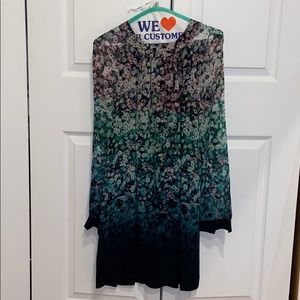 French Connection ombré floral dress with sleeves